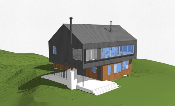 Modern Cabin Perspective 03