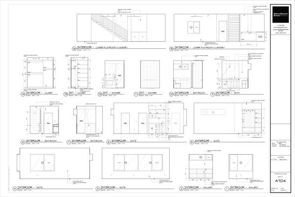 Modern House Drawings Bob Borson A704
