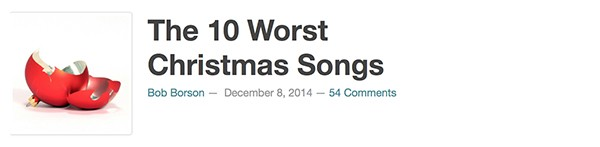 The 10 Worst Christmas Songs