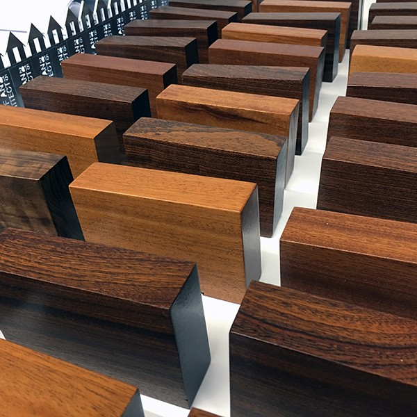 different wood species for LoaA Playhouse Trophies