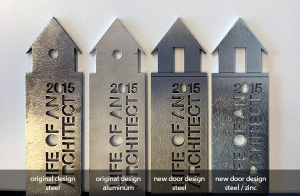 Life of an Architect playhouse trophy metal designs