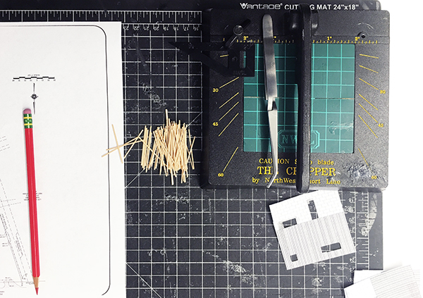 Architectural Models cutting mullions
