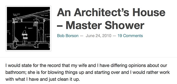 Bob Borson - An Architects House Master Shower