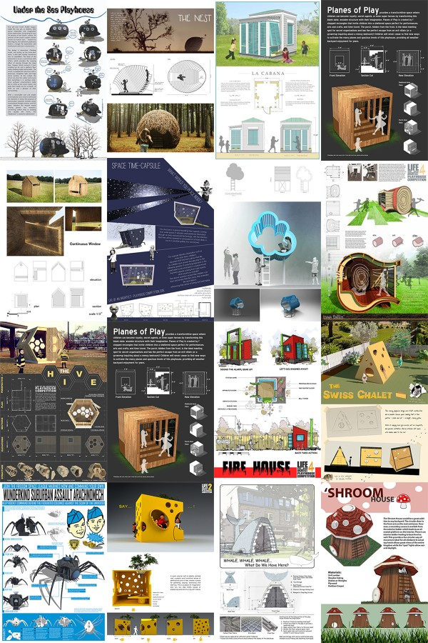 Life of an Architect Playhouse Competition Past Entries Composite