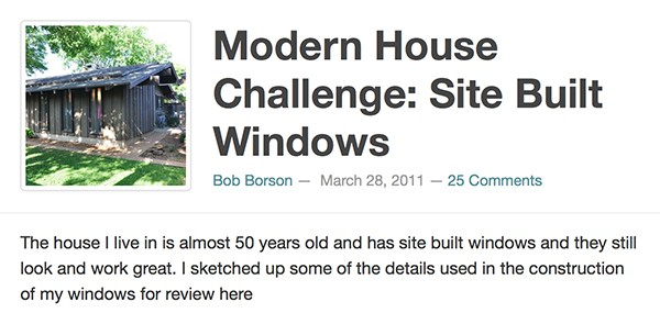 Bob Borson - Site Built Windows