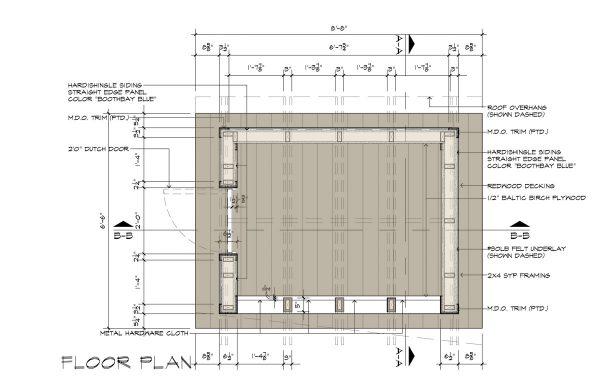 Cottage Playhouse Floorplan by Dallas Architect Bob Borson
