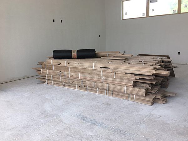 acclimating the wood flooring