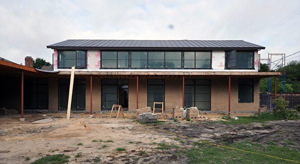 exterior elevation brick installation