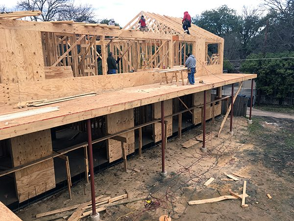 roof truss installation