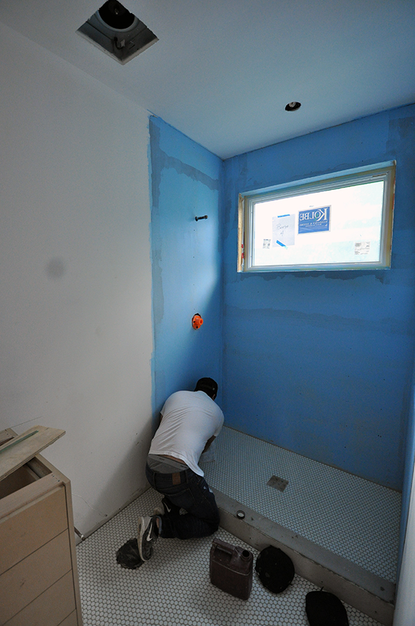 waterproofing the wall for tile