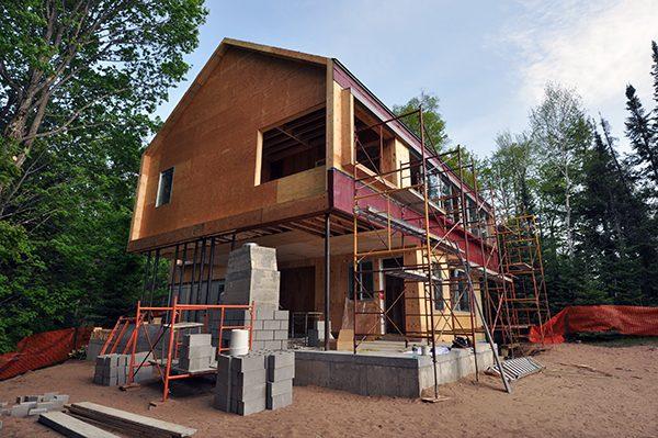 BSB fireplace masonry Northwest Elevation