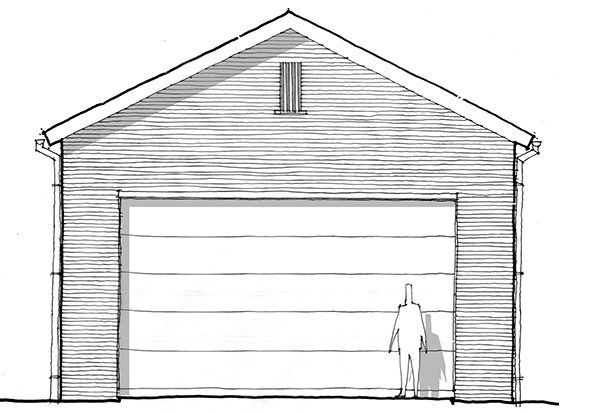Scale and Proportion Garage Gable Vent sketch by Bob Borson