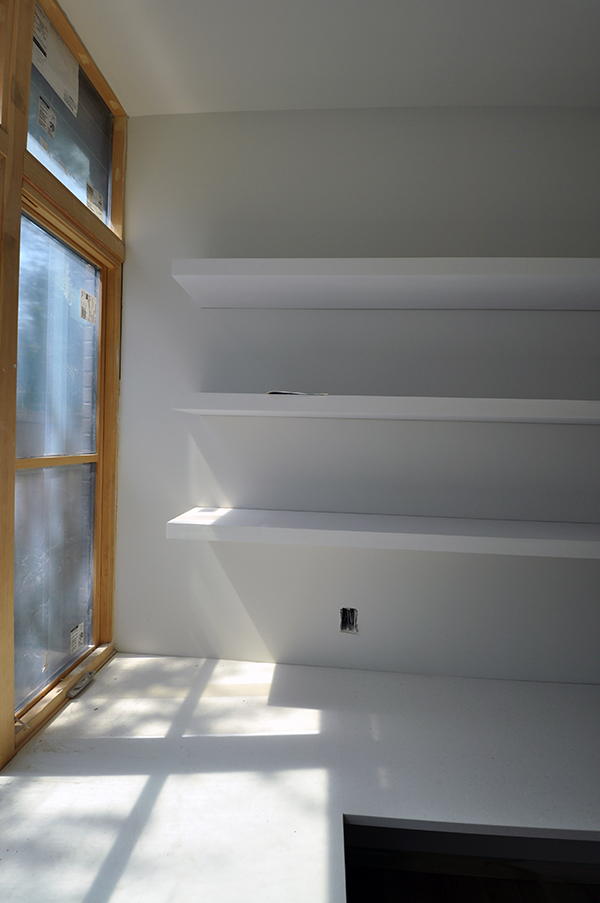 floating shelves end of the line