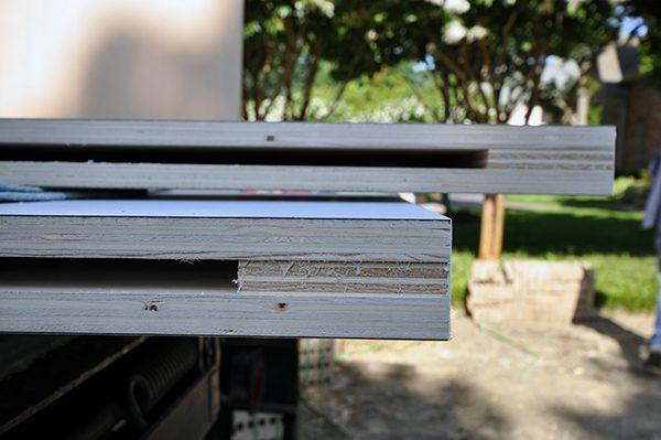 floating shelf construction