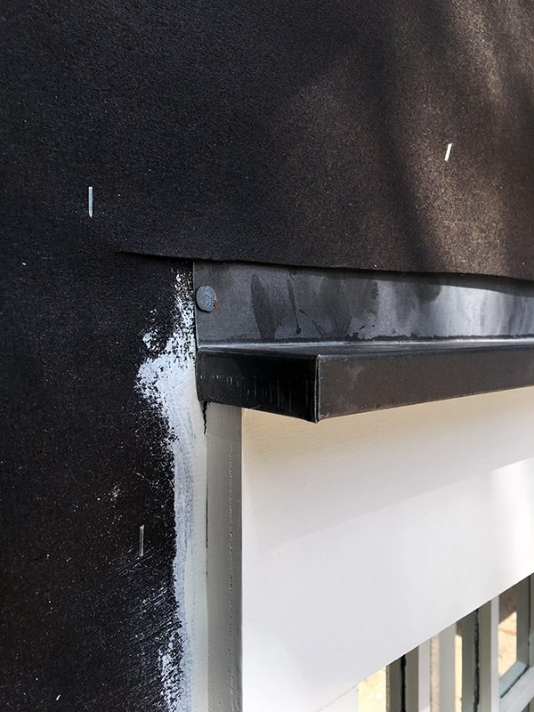 The Cottage House door header flashing