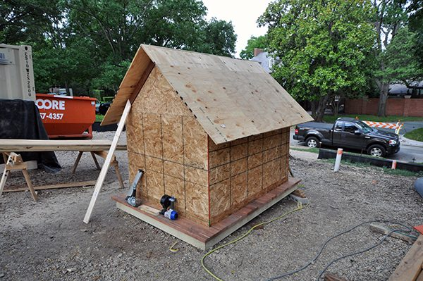 The Cottage House plywood sheathing