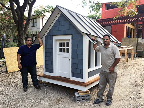The Cottage Playhouse Juan Montelongo and Jose Gonzalez - BufordHawthorne Builders