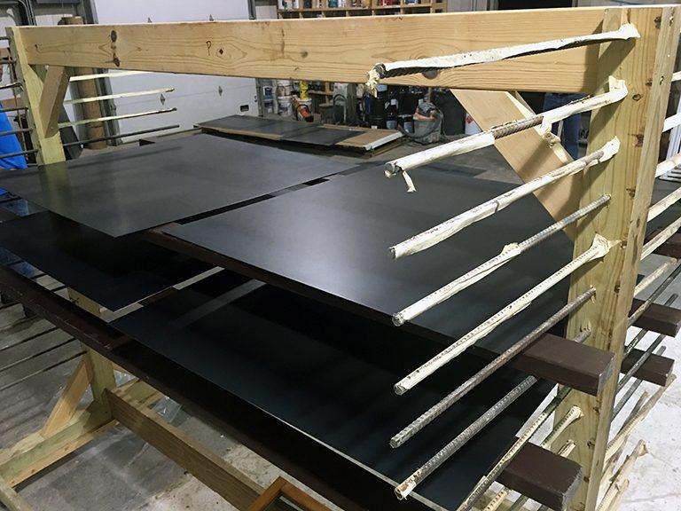 steel wall panels drying rack