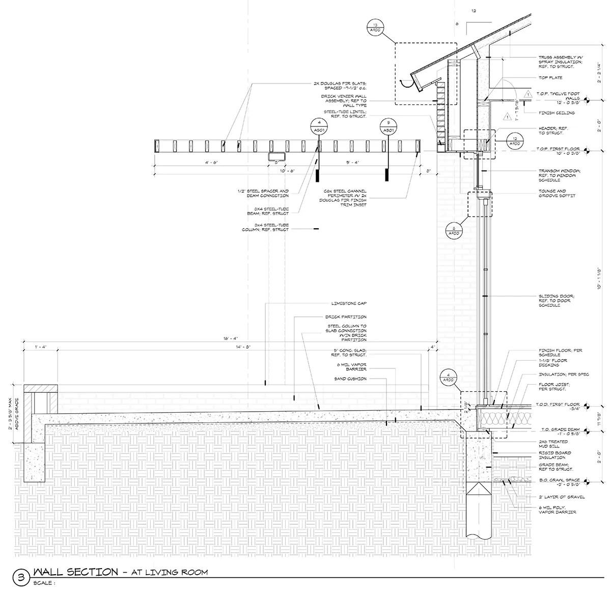 steel trellis - wall section