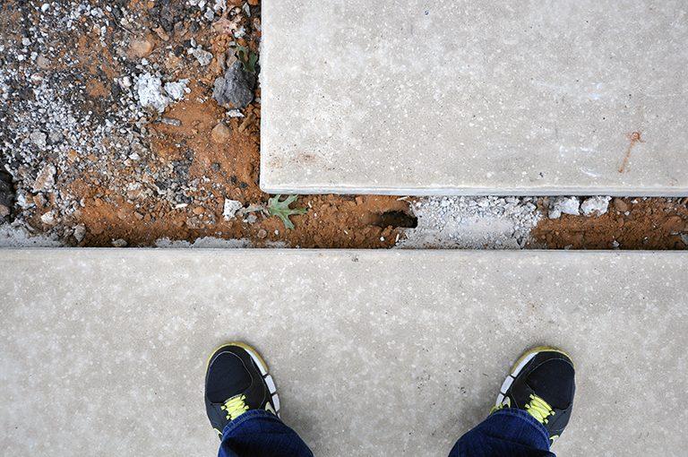 concrete pads plan view