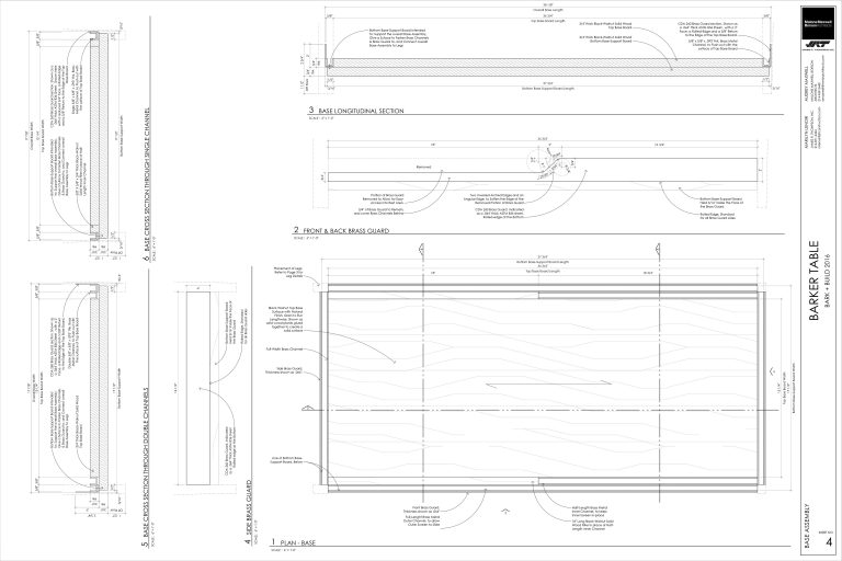 Barker Table - Dog House plan and door sections