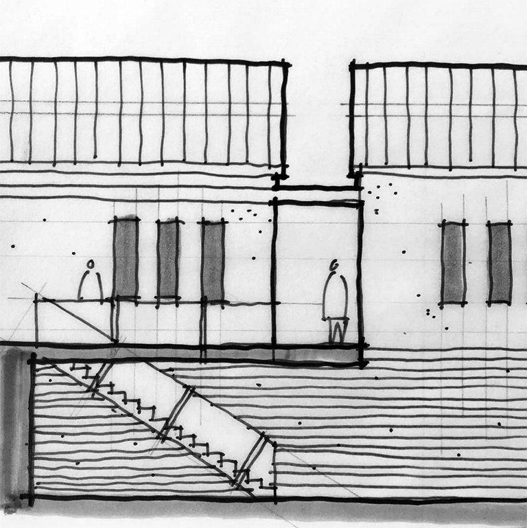 elevation sketch study detail by Bob Borson