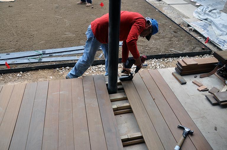 Blind nailing deck boards