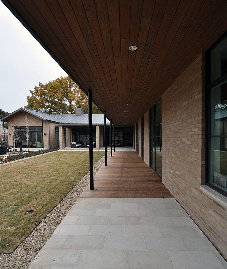 modern Ipe wood deck Elevation Finished