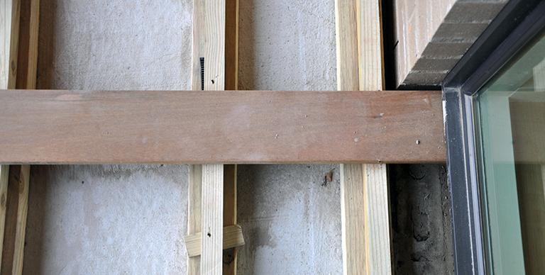 Wood Decking flush under exterior windows 02