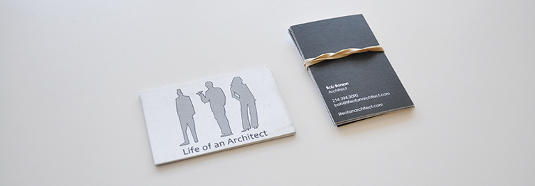 old Life of an Architect business cards
