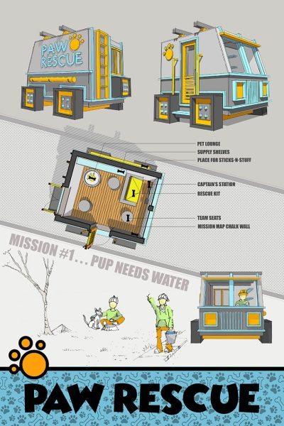 Riaan Kotze - Paw Rescue 2017 Life of an Architect Playhouse Design Competition Winner