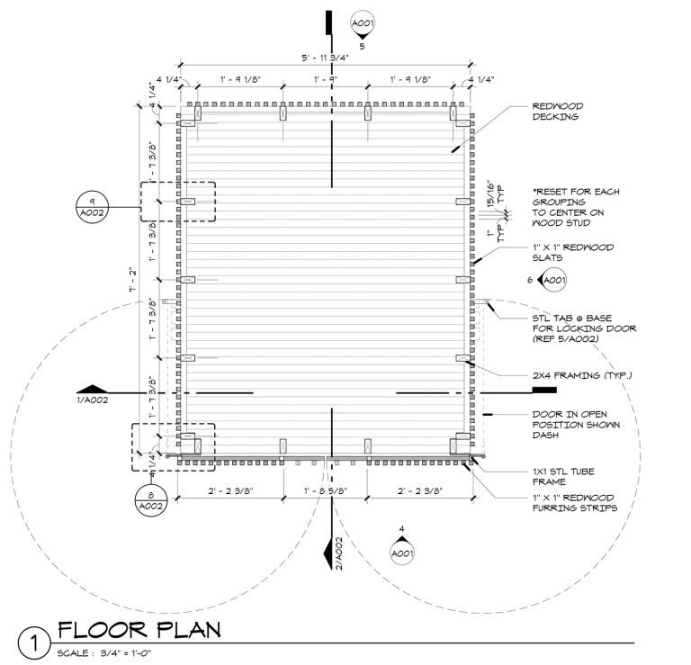 The Grasshopper House - 1 Floor Plan by Dallas Architect Bob Borson FAIA