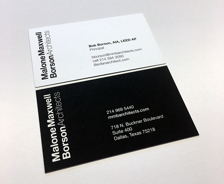 bob borson business card - Architect Business Card