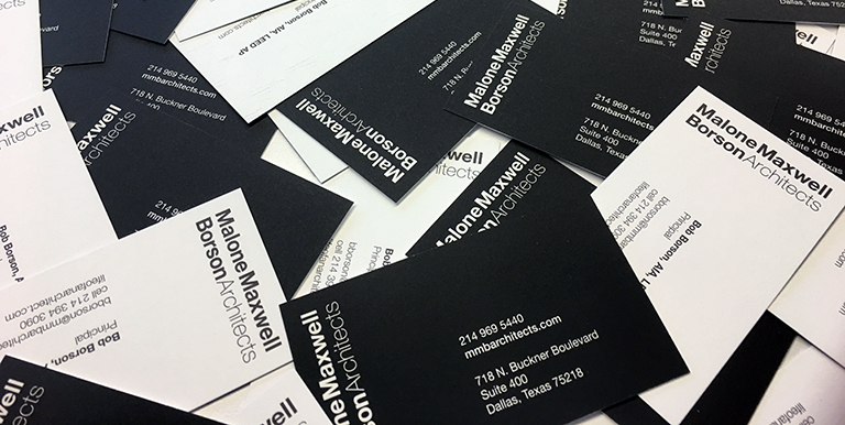 big pile of business cards