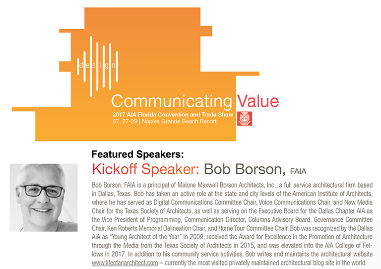 Bob Borson AIA Florida Kickoff Keynote Speaker