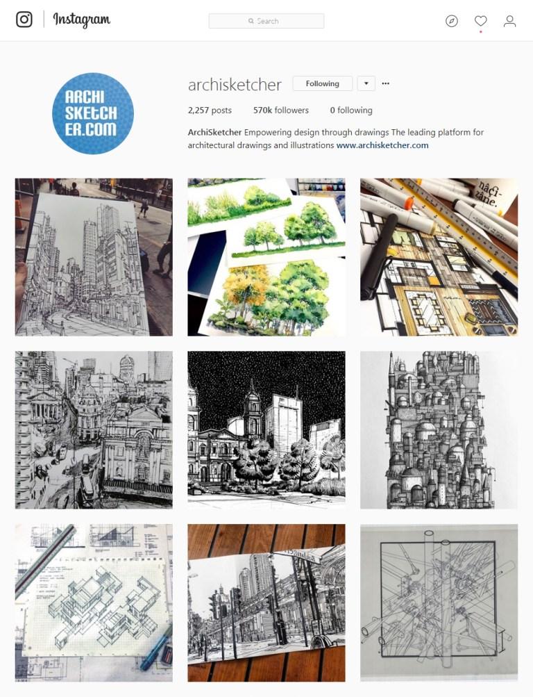 archisketcher Instagram - Sketching