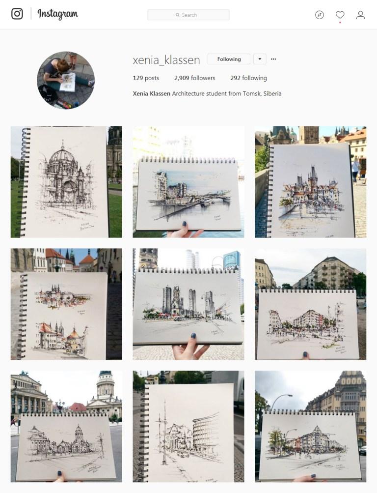 xenia_klassen Instagram - Sketching
