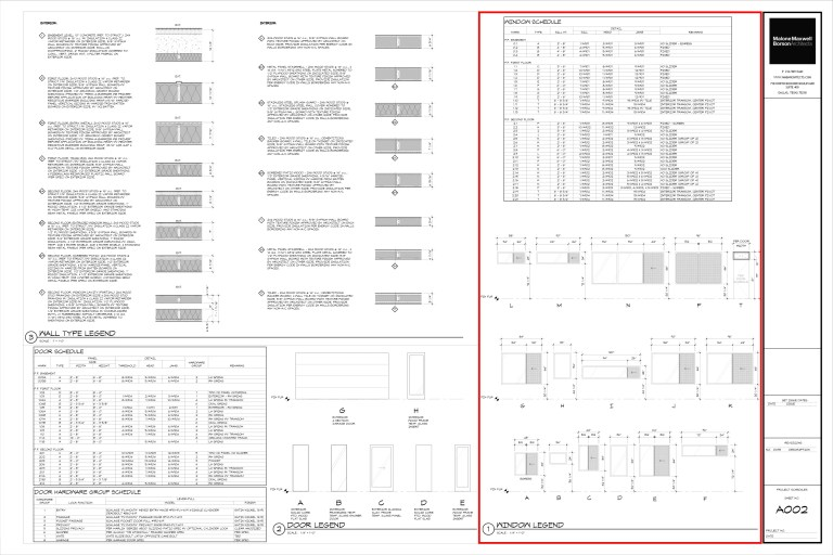 Architectural Graphics 101 Window Schedules Modern Cabin by Bob Borson