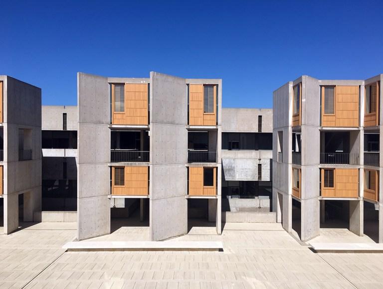 Salk Institute exterior concrete stair towers