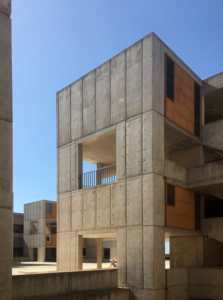 Salk Institute exterior ring labs and exterior stairwells