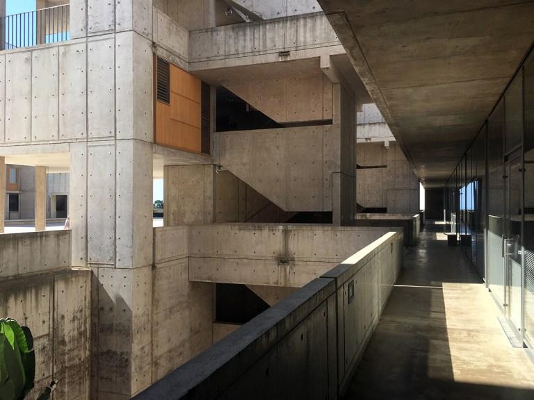 Salk Institute exterior ring labs and exterior stairwells
