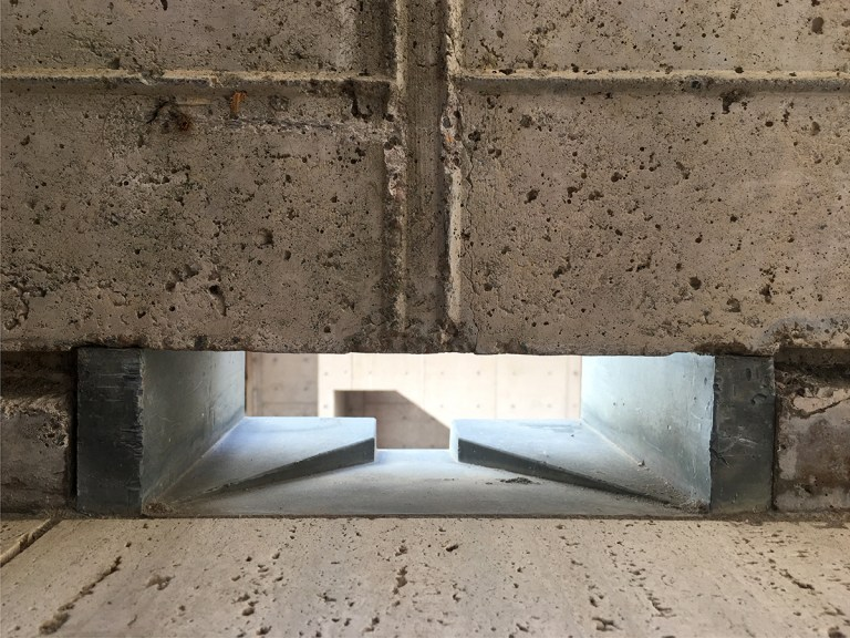 Salk Institute scupper detail