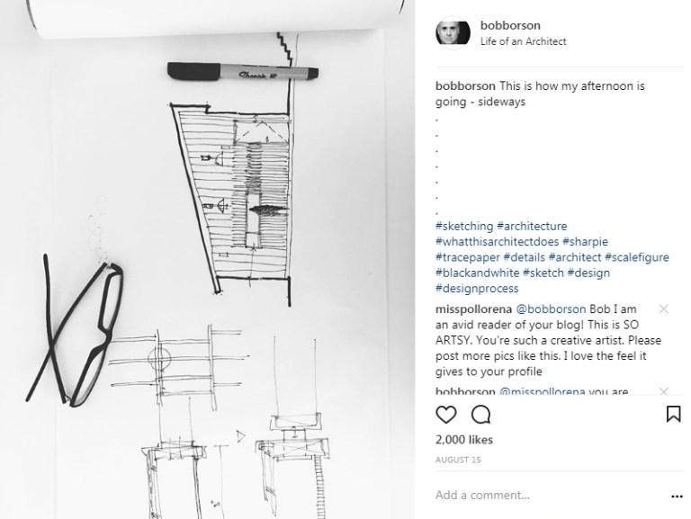 Bob Borson Instagram - How Architects Communicate - Sketch 02