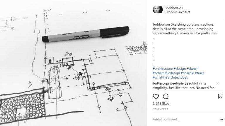 Bob Borson Instagram - How Architects Communicate - Sketch 03