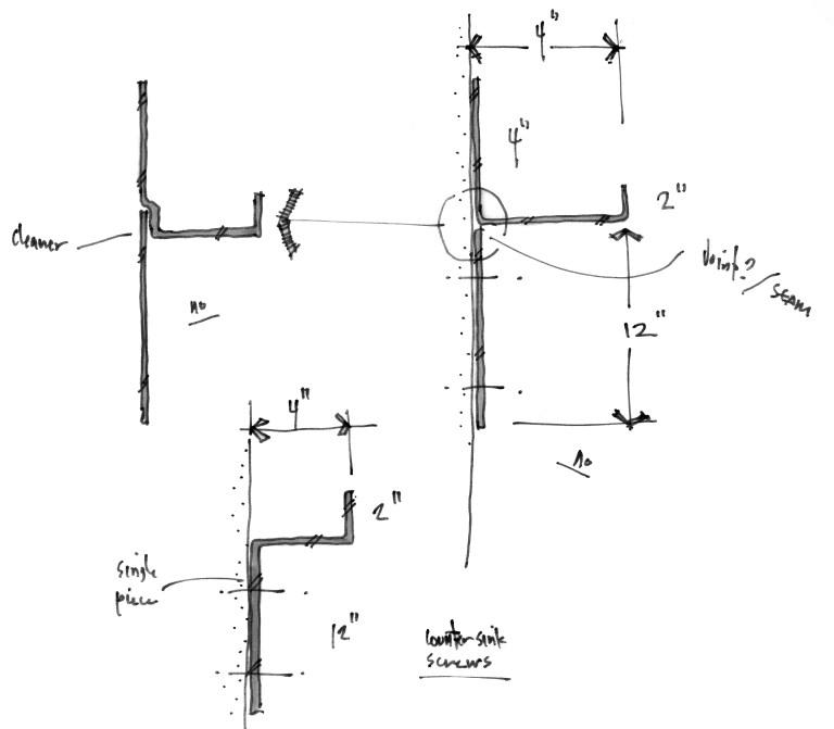 Metal Shelf design sketch