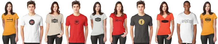 Colorful T-Shirts lineup - copyright Bob Borson 2018