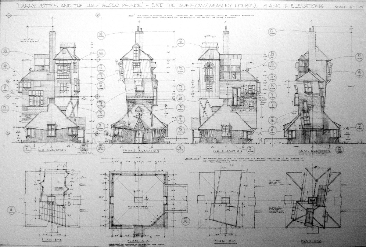 Deathly Hallows production drawing