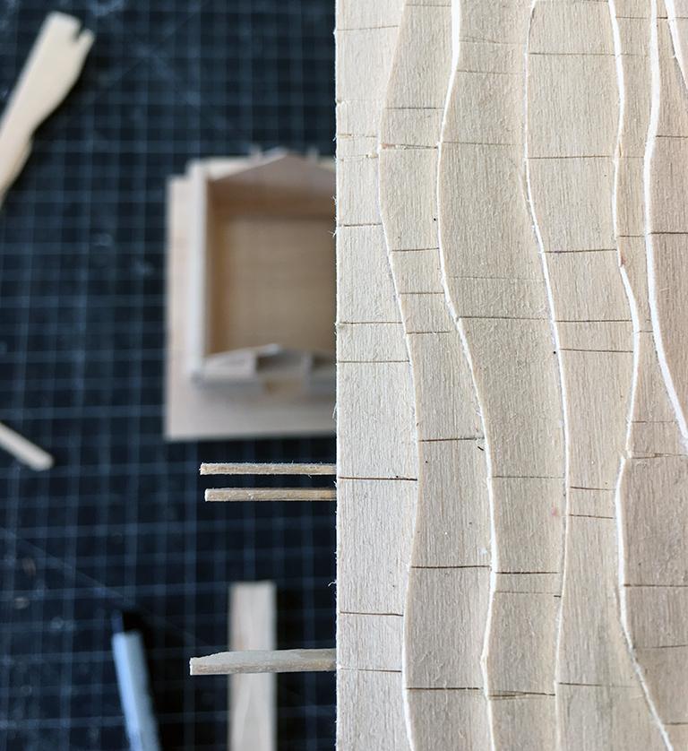 Japanese Playhouse Model - the shingle pattern
