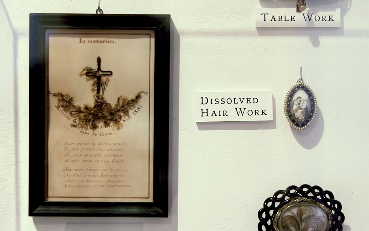 Woven Strands the Art of Human Hair Work