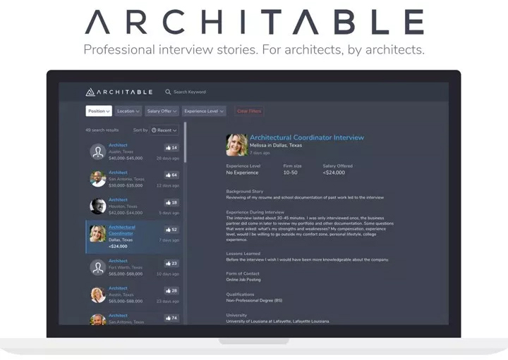 Architable - Professional Interview Stories